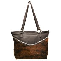 Raviana Large Tote bag with bling and fur