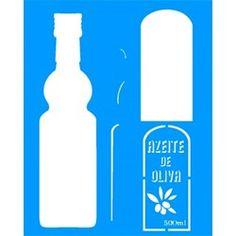 Stencil Garrafa Azeite 20x25 - OPA