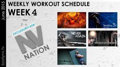 NV Nation, June.22nd – 28th the workout schedule is as follows: Split Decision - Never Again - Easy Breezy - Terrible 3's - Backstabber Weekly Workout Schedule, Road Rage, Fitness Diet, Health Fitness, Diet Tips, Workout Videos, Fun Workouts, How To Plan, Motivation