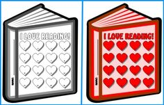 "Encourage your students to read books independently this February with these ""I Love Reading!"" sticker charts."