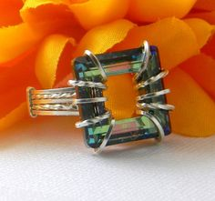 Sterling Silver Ring wire wrapped with an by alyssakaycreations