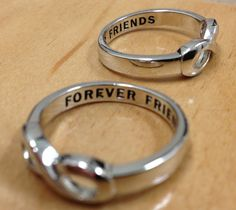 Infinity Ring Forever Friends Infinity Ring in by InfinityRings, $16.00