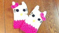 Hello Kitty Fingerless Gloves on Etsy, $13.65 CAD