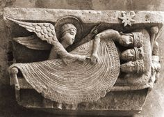 Carving of the Magi ~from the Romanesque Cathedral of Saint Lazare - Autun, France Romanesque Sculpture, Romanesque Art, Art Antique, Art Sculpture, Medieval Art, Sacred Art, Stone Carving, Religious Art, Christian Art