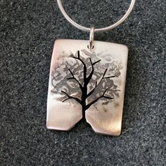 Silver Tree Pendant Silver Jewelry Silver by AngelaWrightDesigns
