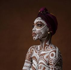 Africanfashiontraining african fashion in 2019 body art, African Tribal Makeup, Tribal Face, African Beauty, African Art, African Fashion, Body Makeup, Black Women Art, African Culture, Portrait Art