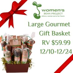 Women's Bean Project Large Gourmet Gift Basket (Ends 12/27) Enter Today & Good Luck! ~ Deliciously Savvy