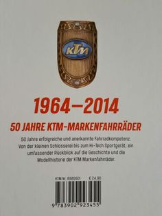 50 Jahre KTM Signs, The Fifties, Bike, History, Novelty Signs, Sign, Dishes