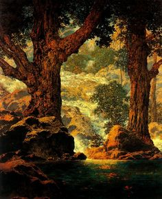 Maxfield Parrish was an American painter and illustrator active in the first half of the twentieth century.