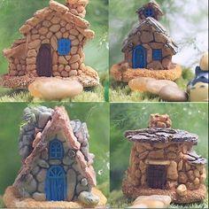 2015 Hot Selling de fadas jardim em miniatura casa de pedra aleatória estilo artesanato Micro paisagem decoração