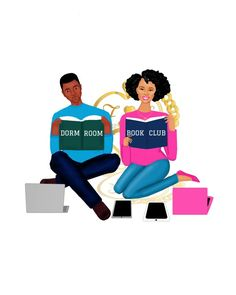 Because reading is fundamental  checkout @dormroombookclub  #bookclub #dormroomtv #book #read #books #college #reading #artwork #by #nyc #artist #fashionlistically_speaking #art #men #women #fashion  #fashionillustration #illustration #digitalart #potd #aotd #instagood