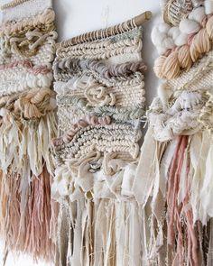 CROSSING THREADS, Lauren and Kass Hernandez, woven art, fiber art, woven wall hanging