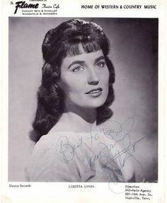 Loretta Lynn When She Was Young | Young Loretta Lynn