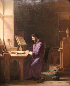 """Jean-Antoine Laurent """"Gutemberg inventant l'imprimerie"""""""