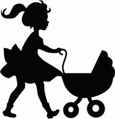 Silhouette Design Store: little girl with doll buggy Silhouette Cameo, Girl Silhouette, Silhouette Vector, Silhouette Design, Fichiers Silhouette, Wood Carving Patterns, Styrofoam Plates, Paper Crafts Origami, Stencil Painting