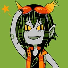 I know vocaloid isn't really anime but whatever. Its Gumi as a troll for homestuck