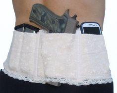 Ladies Womens Concealed Carry Lace Waistband Gun Holster-Hidden Heat Lace II - P #Handmade