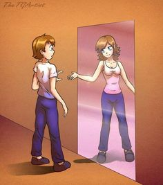 For us who are not transgender people, this image helps to educate us. Transgender Quotes, Transgender Comic, Transgender People, Transgender Pictures, Transgender Symbol, Transgender Captions, Transgender Community, Trans Mtf, Fanfiction