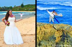 Creative Kauai Wedding Photo.