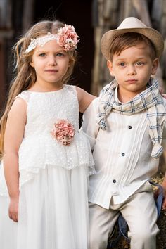 Linen baptism suit and lace christening dress by Vinte li Baptism Clothes, Baptism Outfit, Baptism Gown, Christening, Greek Fashion, Handmade Accessories, Boy Or Girl, Flower Girl Dresses, Spring Summer