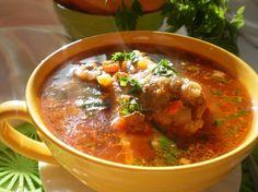 Imagini pentru ciorba de porc cu ou Romanian Food, Romanian Recipes, Supe, Curry, Ethnic Recipes, Dan, Pork, Curries