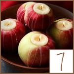 The smell is delightful and they are so cute for fall! Once the candle has burned down, just toss the apple!