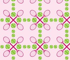 Light Pink Tennis fabric AND wallpaper by audreyclayton on Spoonflower