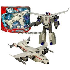 Hasbro Year 2007 Transformers Movie All Spark Power Series Ultra Class 9 Inch Tall Robot Action Figure Decepticon JETSTORM with Electronic Lights and Sounds Plus Missile Vehicle Mode Cargo Plane -- To view further for this item, visit the image link. Transformers Characters, Transformers Action Figures, Hasbro Transformers, Robot Action Figures, Gi Joe, All Spark, Power Series, Transformers Collection, Lego City Police