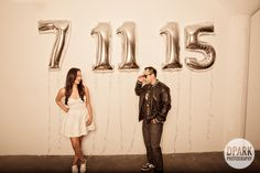 silver mylar balloons creative save the date