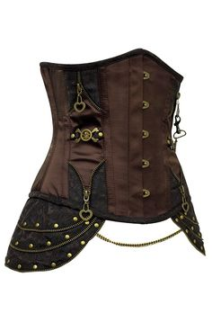 03a8d5b8e0 Totally imagine Johanna with something like this laced over a tunic. Steampunk  CorsetSteampunk ...