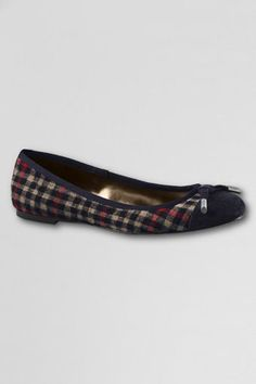Navy and plaid flats for fall.