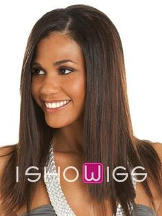 Pure Straight Long Human Hair Full Lace Wig http://www.ishowigs.com/pure-straight-long-human-hair-full-lace-wig.html