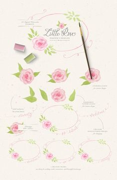 Wreath Watercolor, Watercolor Rose, Watercolor Illustration, Rose Clipart, Flower Clipart, Baby Announcement Cards, Etsy Handmade, Handmade Gifts, Wreath Drawing