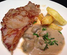 Miércoles de #entrecot de ternera con #patatas fritas y...