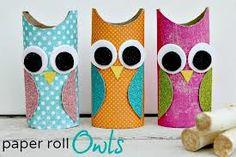 tp owl. paper, felt, cutting, glueing.  bird craft.