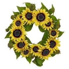 David Shaw Silverware NA LTD 22 Sunflower Wreath, Yellow