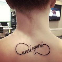 to infinity and beyond tattoo on neck, 20  Creative To Infinity And Beyond Tattoos, http://hative.com/creative-to-infinity-and-beyond-tattoos/,