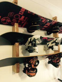 Snowboard Rack... Custom made from reclaimed timber
