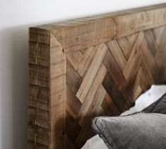 Pottery Barn's expertly crafted collections offer a widerange of stylish indoor and outdoor furniture, accessories, decor and more, for every room in your home. Reclaimed Wood Nightstand, Salvaged Wood, Rustic Wood, Entryway Furniture, Home Furniture, Pottery Barn, Herringbone Headboard, Diy Headboards, Metal Beds