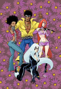Heroes for Hire color by ~gianmac