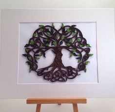 Celtic Tree Of Life quilled art Framed art 11x14 by jgaCreations