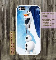 Disney Frozen, Olaf  The Snowman iPhone 4 case,iphone 4s case,iphone 5 case, Samsung galaxy S3 case. Samsung Galaxy S4 Case on Etsy, $15.00