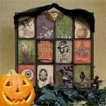InkadinkaBoo - online stamping class that teaches stamping techniques that you can use year-round, and combines them to craft a spook-tacular altered printer's tray!  Free stamping class online at Spotted Canary.