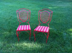 refurbished wrought iron chairs