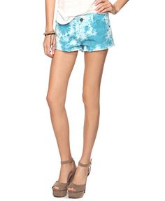 forever21 blue tie dye shorts! i need these