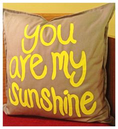 Grey and Yellow Sunshine Pillow by AtHomewithKelsey on Etsy, $35.00