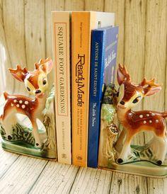 vintage ceramic deer bookends. $20.00, via Etsy.