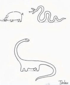 how to make a brontosaurus (if a snake ate a pig.)