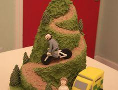 Mountain biking wedding cake