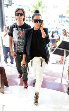 e7dbf282cf kim kardashian drawstring trousers Black Sunglasses